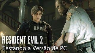 RESIDENT EVIL 2 Remake Demo AO VIVO - Testando a Versão de PC! Como Tá o Gameplay!?