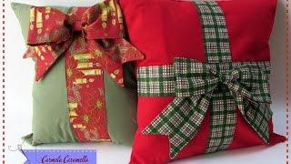 Costurando almofadas de natal com Carmela Caramella