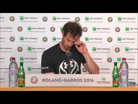 French Open 2016: Andy Murray FINAL Press...