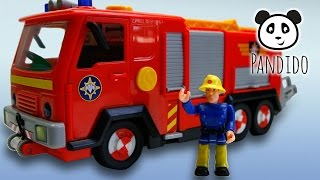 Feuerwehrmann Sam Feuerwehrauto DELUXE JUPITER  - Spielzeug ausgepackt und angespielt - Pandido TV