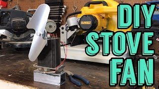 Wood Stove Fan - DIY Cheap! - Complete walk through