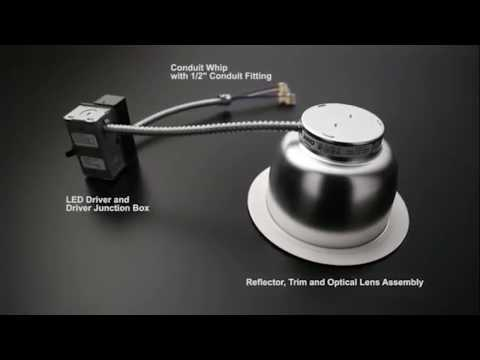 Commercial LED Retrofit Trim Assembly - Install -