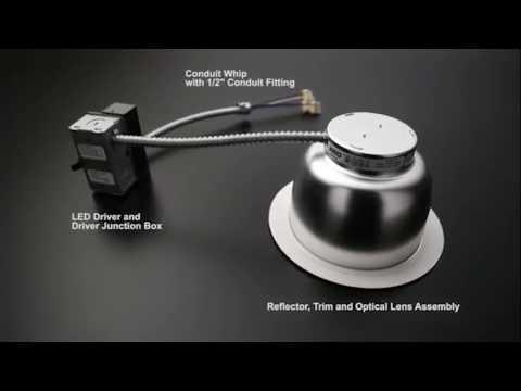 Commercial LED Retrofit Trim Assembly - Install -