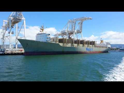 Ferry Ride View. Container Ship Matson Kauai. Port of Oakland. June 10, 2017.