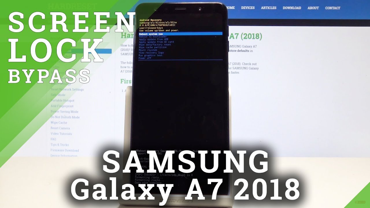 How to Bypass Screen Lock in SAMSUNG Galaxy A7 (2018) - Hard Reset Tutorial  / Wipe Data