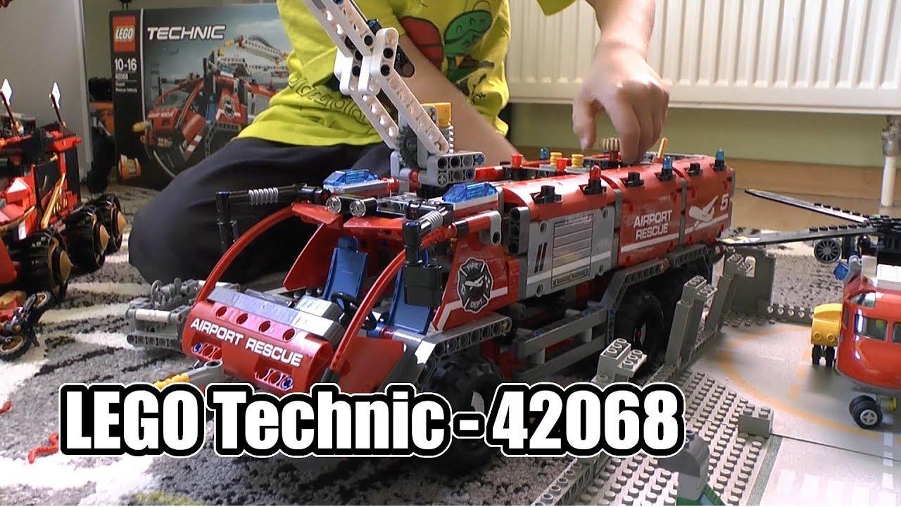 lego technic feuerwehr airport rescue vehicle 42068 ab. Black Bedroom Furniture Sets. Home Design Ideas