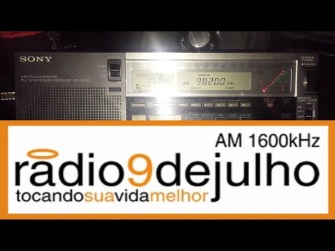 200 metre longwire: Radio 9 De Julho 9820 kHz, Sao Paolo, Brazil, excellent SNR