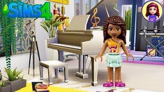 Let's Build Lego Friends Andrea a Popstar Apartment | Sims 4