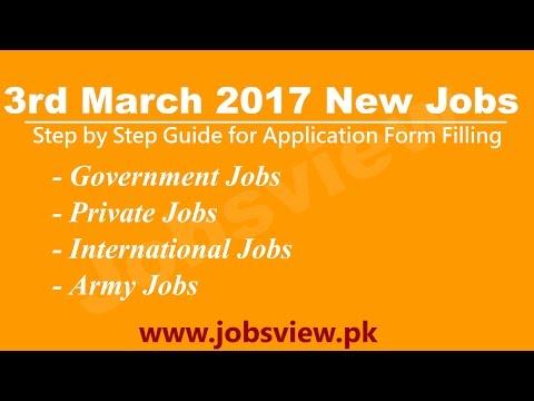 latest jobs in pakistan 3rd march 2017  Jobs View Pakistan