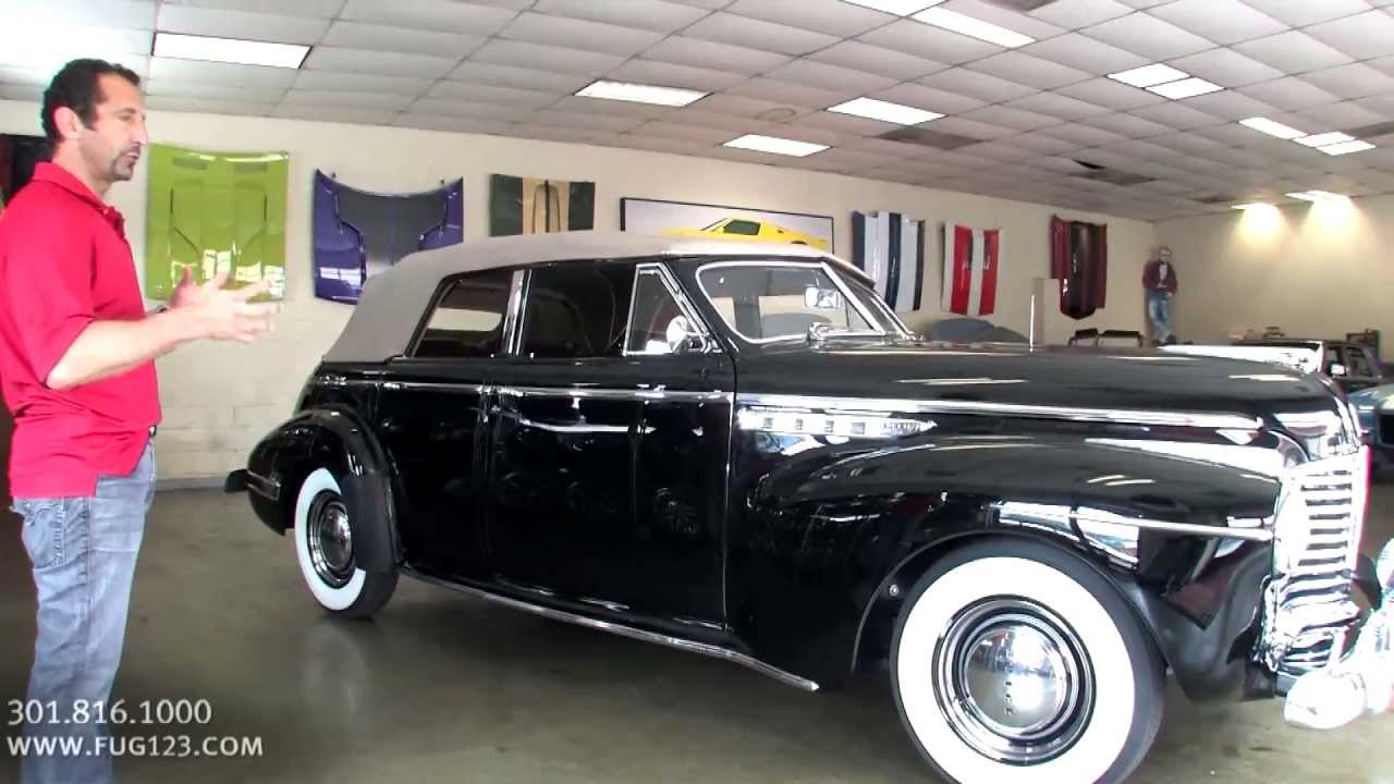 1941 buick super 50 phaeton 4 door convertible for sale with test drive walk through video. Black Bedroom Furniture Sets. Home Design Ideas