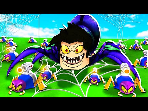 JE CRÉE UNE ARMÉE D'ARAIGNÉES !! (Roblox Be a Spider! Tycoon🕷️)