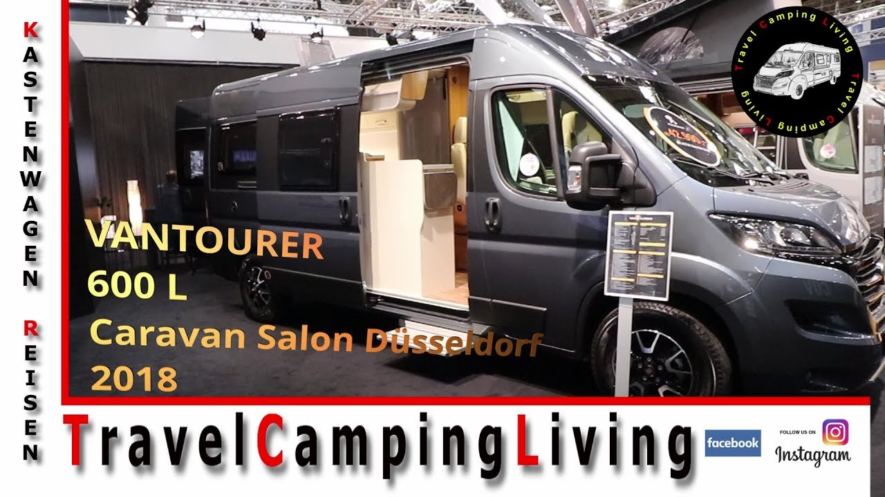 vantourer 600 l mit raumbad caravan salon d sseldorf 2018. Black Bedroom Furniture Sets. Home Design Ideas