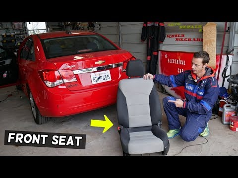 CHEVROLET CRUZE FRONT SEAT REMOVAL REPLACEMENT. CHEVY CRUZE FRONT SEAT