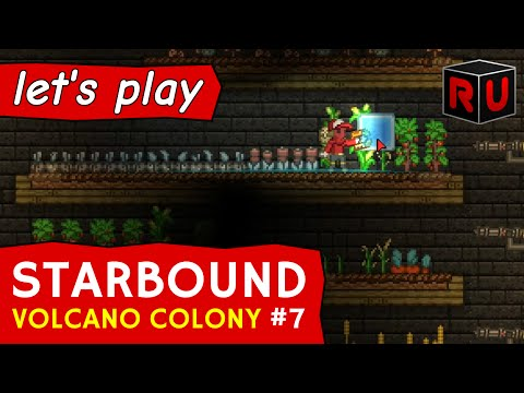 Farming for Profit on a Volcano Planet | Let's play Starbound Volcano Colony ep 7