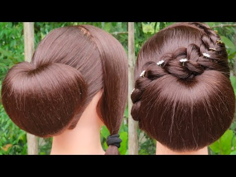 Most Beautiful Hairstyle With Using Clutcher    Easy Hairstyle    Everyday Girls Hairstyle    thumbnail