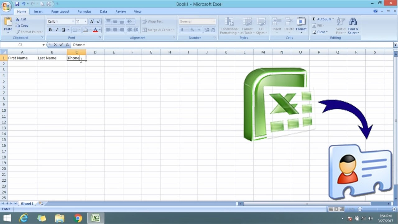 convert excel file to vcf software free