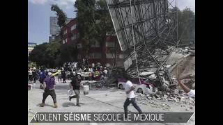 Un violent séisme secoue le Mexique