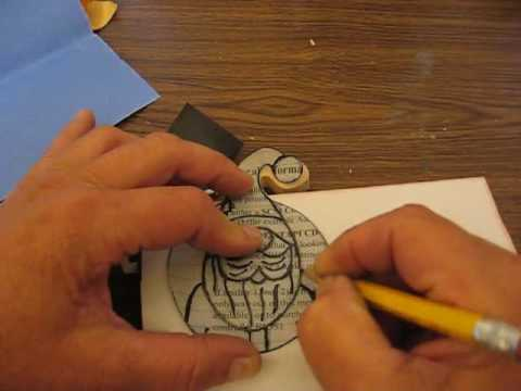 How To Trace Patterns On To Wood Youtube