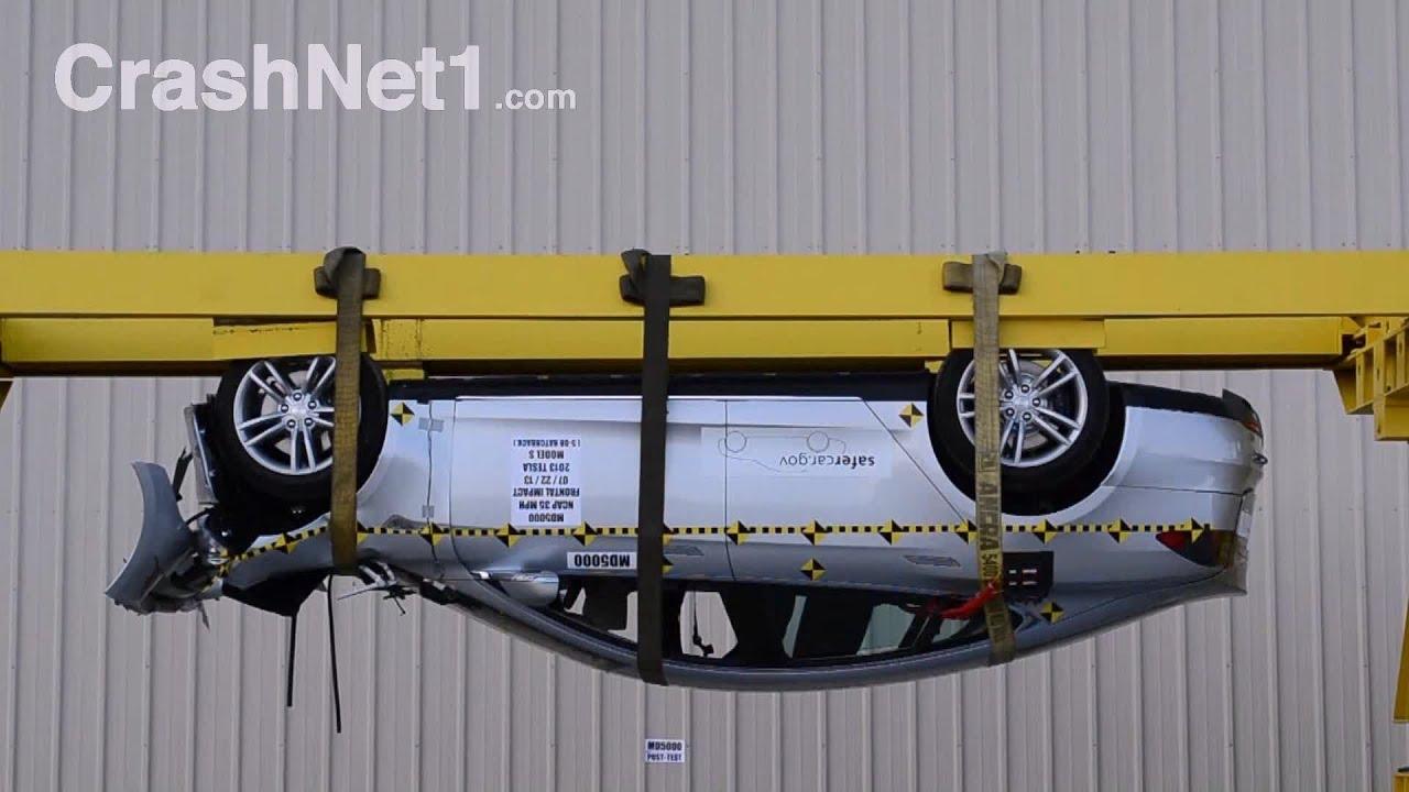 Tesla model s roof crush test