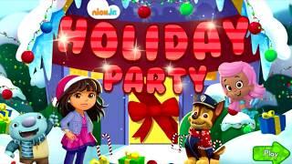 Мультик игра мультяшки встречают Рождество и новый год Щенячий патруль Даша путешественница