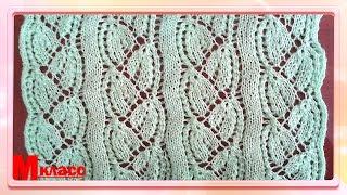 Вязание ажурных узоров спицами. Красивый ажурный узор