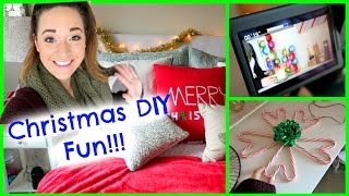 DIY CHRISTMAS DECOR FILMING + MAGICALNESS!!! Thumbnail