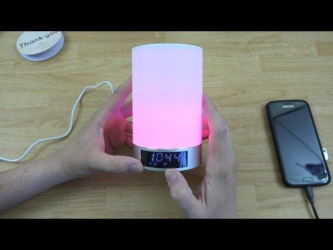 KewlKit Eva Portable LED Touch Lamp Stereo Bluetooth 4.0 Speaker