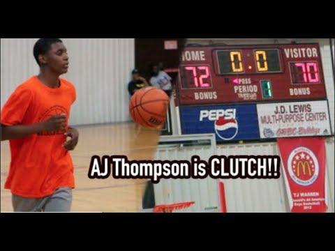 AJ Thompson IS CLUTCH! WIns High School League Championship!