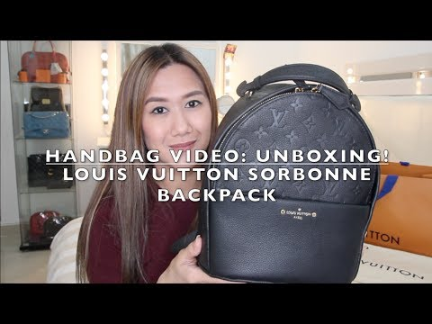 Handbag Video Unboxing Featuring Louis Vuitton Sorbonne Backpack Monogram Empreinte