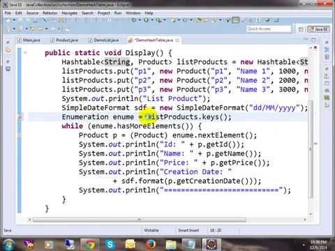 List and Hashtable in Java thumbnail