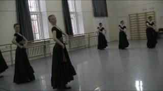 Фрагмент урока Народно-сценического танца
