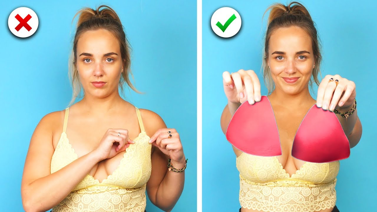 0aa454300f 14 Quick And Easy Bra Hacks and More Girl Hacks You Will Love! - YouTube