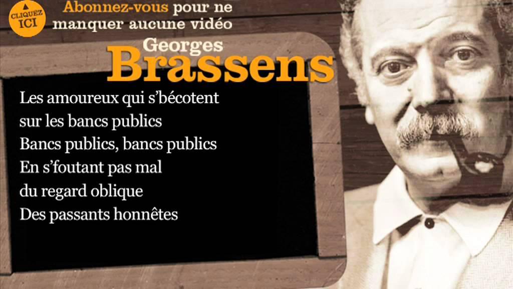 Georges brassens les amoureux des bancs publics - Les amoureux des bancs publics brassens ...