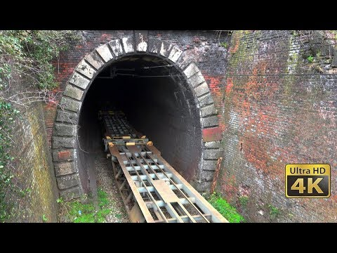 Old railway tunnel Čortanovci - Trains in tunnel - Mountain Fruška Gora [4K]