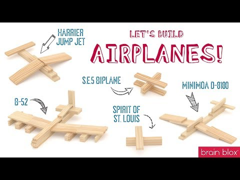 Wooden Building Blocks - How To Build Airplanes