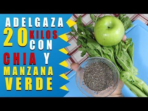 Chia y manzanas verdes para adelgazar 20 kilos, pierde peso con este zumo