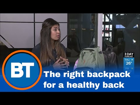 How to avoid back pains with the right backpack