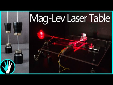 Can Magnets Stop Vibrations? Magnetic Levitation Laser Table - Holograms 1