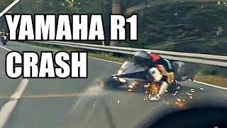 Yamaha R1 CRASH