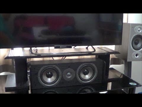 Diy Tv Stand To Fit Center Channel Speaker Polk Audio Cs10 Under