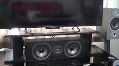 "DIY TV Stand - To Fit Center Channel Speaker ""Polk Audio CS10"" Under Sony LCD Smart TV"