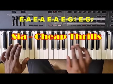 How To Play Cheap Thrills By Sia - Easy Piano Tutorial