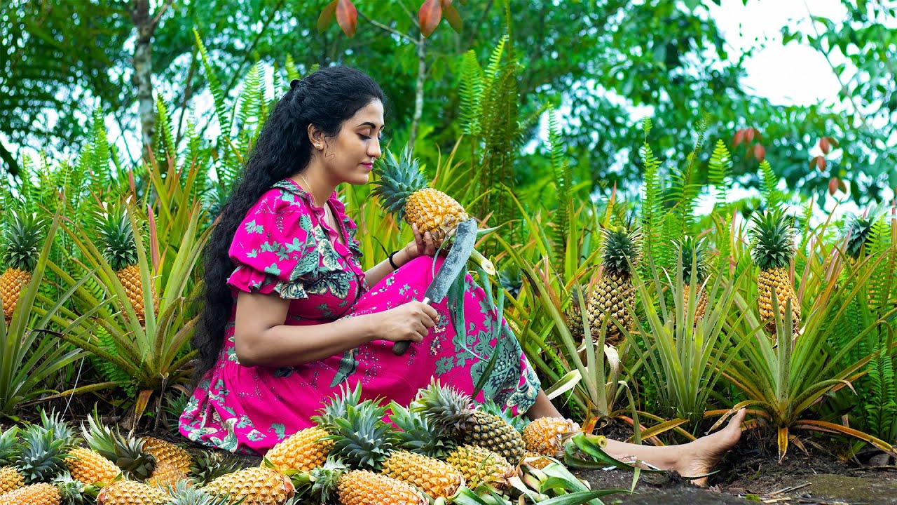 Pineapples rock|Drilled them,squeezed them and steamed for ambrosial taste |Poorna-The nature girl
