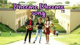 Dheeme Dheeme - Tony Kakkar ft. Neha Sharma   Cute Love story   Ishu Kunal  Dance   Mk Studio
