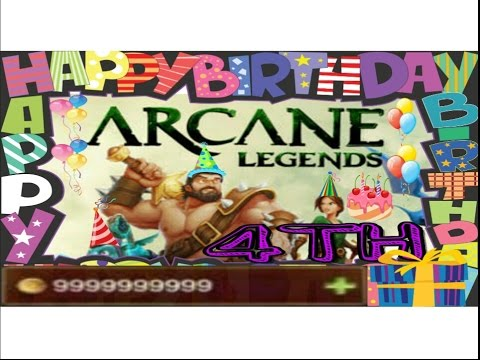 Arcane Legends - 4TH Birthday Event 2016 - How To Get Gold Easily And Quickly