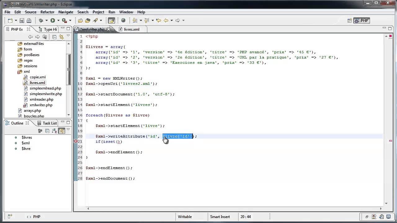Formation Php 5 4 Ecrire Du Xml Avec Xmlwriter 37 52