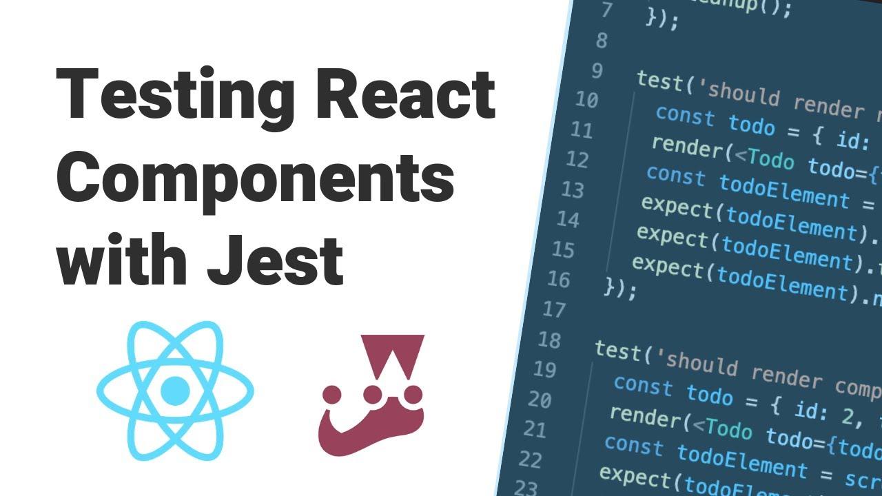 React Testing Tutorial (Jest + React Testing Library)