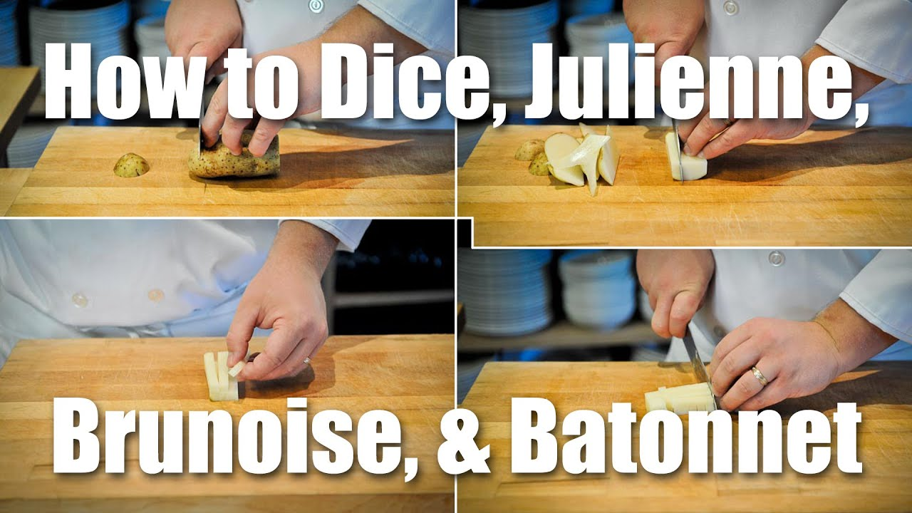 How To Dice Julienne Brunoise Batonnet Youtube