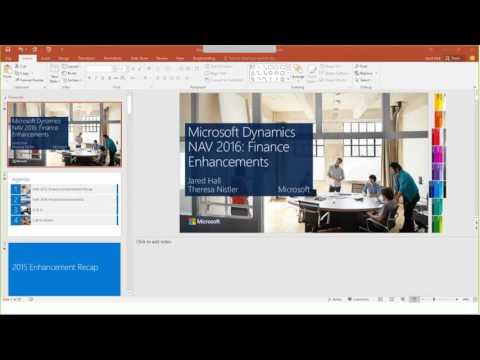 Microsoft Dynamics NAV 2016 Financial Enhancements
