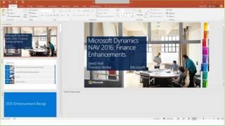 Microsoft Dynamics NAV 2016 Financial Enhancements
